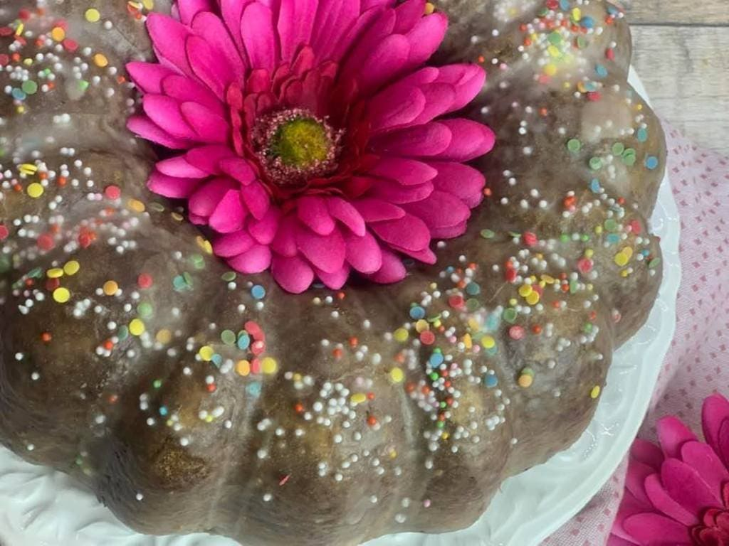 Kakao – Schokoladenkuchen aus der Kranzform ( Gugelhupfform )