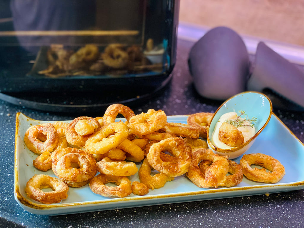 Calamari mit Aioli - Rezept für den Deluxe Air Fryer -